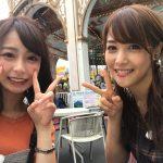 【画像】テレ東の鷲見アナ、TBS宇垣アナと美女2ショット