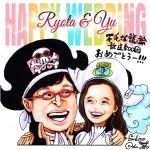 【画像】尾田栄一郎が描いた山里亮太、蒼井優夫妻のイラスト色紙公開